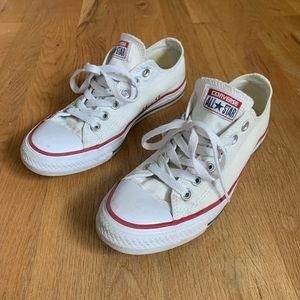 Size 7 Converse All Star White Low Top Converse